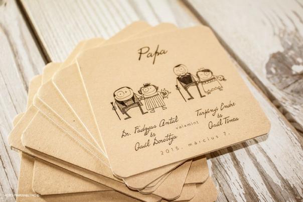 esküvői papírdekor